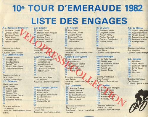 Tour D'emeraude 1982